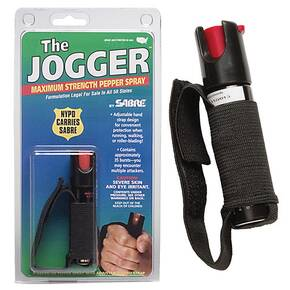 Sabre Runner Pepper Spray Pocket Unit with Hand Strap - Black