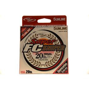 Sunline Super FC Sniper Fluorocarbon Fishing Line 200 yd 20 lb - Clear