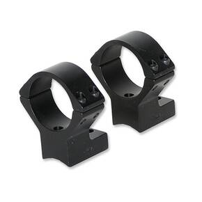 Talley Lightweight Alloy Scope Mounts - Black Anodized - 30mm - High, Savage w/Accutrigger, Stevens 200, Stiller Predator, TC Venture, Ruger American SA