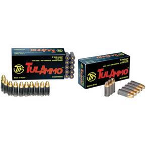 TulAmmo Handgun Ammunition 9mm Luger 115 gr FMJ 1150 fps 900/box