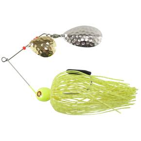 Tim Poe Thunder Lures Double Blade Spinnerbait 1/4 oz - Indiana Nickel Colorado Gold/Chartreuse