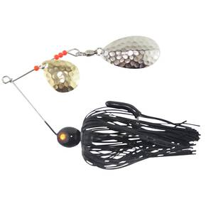 Tim Poe Thunder Lures Double Blade Spinnerbait 1/4 oz - Indiana Nickel Colorado Gold/Black
