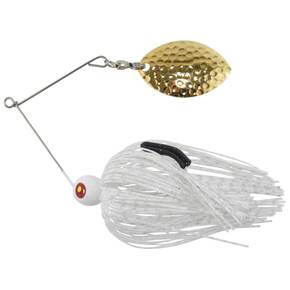 Tim Poe Thunder Lures Single Blade Spinnerbait 1/4 oz - Magnum Gold/White