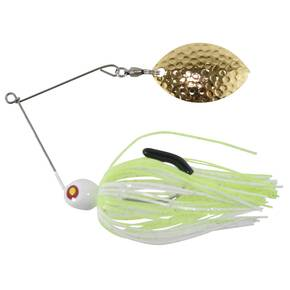 Tim Poe Thunder Lures Single Blade Spinnerbait 1/4 oz - Magnum Gold/Chartreuse & White