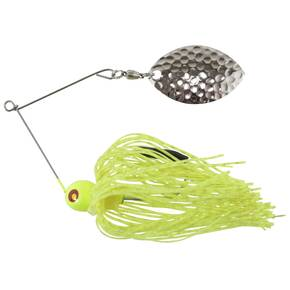 Tim Poe Thunder Lures Single Blade Spinnerbait 1/4 oz - Magnum Nickel/Chartreuse
