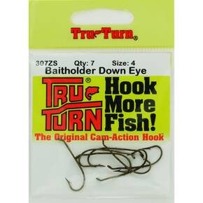 Tru Turn Baitholder Plain Hook Size 4 7pk - Bronze
