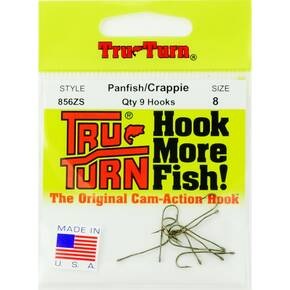 Tru Turn Aberdeen Plain Hook Size 8 - 9pk - Bronze