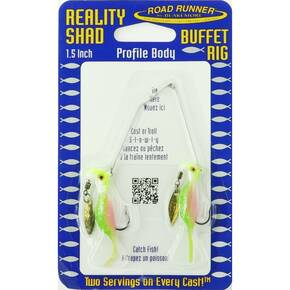 Road Runner Reality Shad Buffet Rig Fly Lure 3/16 oz - Rainbow Sherbert