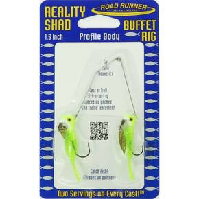 Road Runner Reality Shad Buffet Rig Fly Lure 3/16 oz - Pickle Seeds