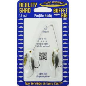 Road Runner Reality Shad Buffet Rig Fly Lure 3/16 oz - Sushi