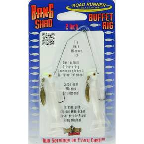 Road Runner Bang Shad Buffet Rig Fly Lure 1/4 oz - Alewife White