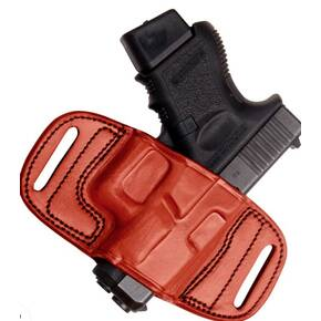 Anniv Multifit Quick Draw Belt  fits  Most 1911's Full Size-BWN-RH