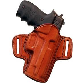 "Tagua Gunleather Open Top Belt Holster for Colt Gov't 1911 5"" Brown Right Hand"