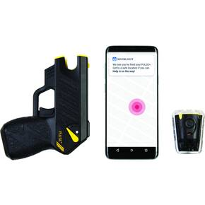 Taser Pulse+ W/Laser,Led,2 Live Cartridges, Holster, Lpm, Target, Black