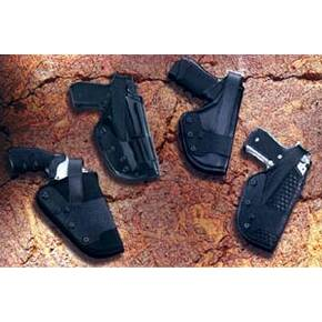 Uncle Mike's #20 Mirage Basketweave Dual Retention Jacket Slot Auto Duty Holsters Right Hand Black Nylon Beretta 92