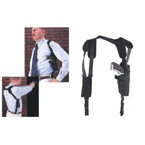 "Uncle Mike's Pro-Pak Vertical Shoulder Holsters Black - Fits 3.75-4.5"" Large Autos"