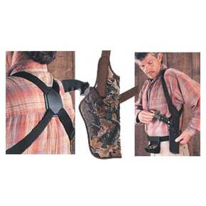 "Uncle Mike's Sidekick Vertical Shoulder Holsters 2-3"" Sm.&Med. Dble Actn Rev - RH"