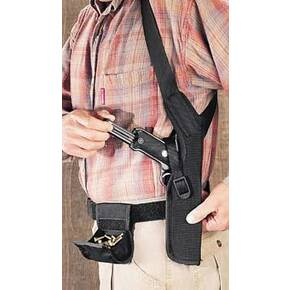 "Uncle Mike's Sidekick Shoulder Holsters for Scoped Guns 3  Black Right Hand - Fits Double Action and 4-5/8"" to 5.5""Barrel Single Action Revolvers"