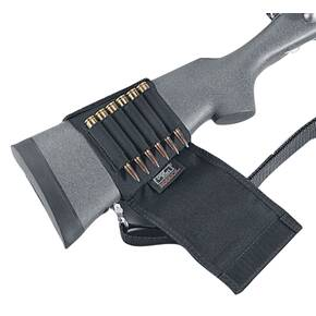 Uncle Mike's Plain Black Cartridge Holder Rifle Buttstock