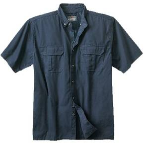 Woolrich Elite Short Sleeve Zip-Up Instructor Shirt - Navy Medium