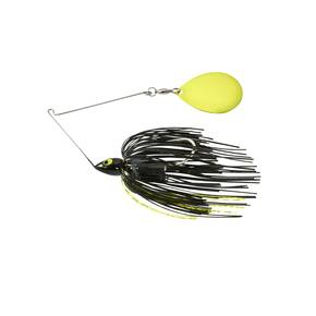 War Eagle Night Time Painted Head Single Colorado Spinnerbait 1/2 oz - Black Chartreuse