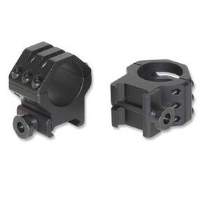 "Weaver 6-Hole Aluminum Scope Ringss - Matte - 1"" High"
