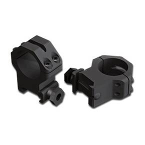 Weaver 4-Hole Skeleton Aluminum Scope Rings - Matte - 30mm Medium