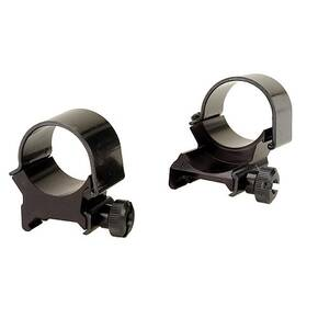 "Weaver Detachable Extension Top Mount Aluminum Scope Rings - 1"" High EXT - Black"