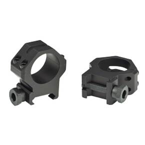 "Weaver 4-Hole Tactical Picatinny Aluminum Scope Rings - Matte - 1"" Medium"