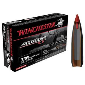 Winchester AccuBond CT Rifle Ammunition .338 Lapua Mag 300 gr AB 2650 fps - 20/box