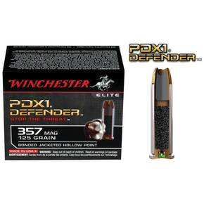 Winchester PDX1 Defender Handgun Ammunition .357 Mag 125 gr PDX1  20/box