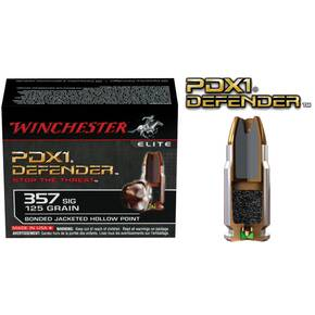Winchester PDX1 Defender Handgun Ammunition .357 SIG 125 gr PDX1  20/box