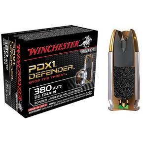 Winchester PDX1 Defender Handgun Ammunition .380 ACP 95 gr PDX1 1000 fps 20/box