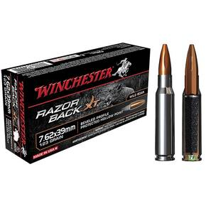Winchester Razorback XT Rifle Ammunition 7.62x39 123 gr HP  - 20/box