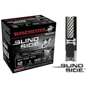 "Winchester Blind Side Hex Shot 12 ga 3""  1 3/8 oz #5 1400 fps - 25/box"