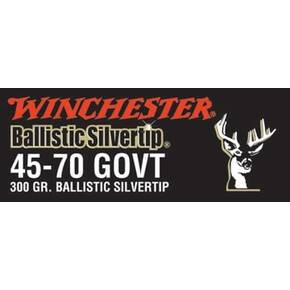 Winchester Ballistic Silvertip Rifle Ammunition .45-70 Gov 300 gr BST 1880 fps - 20/box