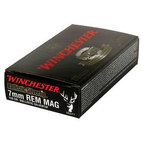 Winchester Ballistic Silvertip Rifle Ammunition 7mm Rem Mag 150 gr BST 3100 fps - 20/box