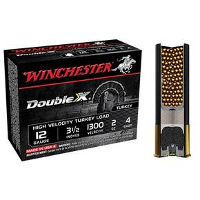 "Winchester Double X Turkey Load 12 ga 3-1/2"" MAX 2 oz #4 1300 fps - 10/box"