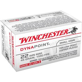 Winchester Dynapoint Rimfire Ammunition .22 WMR 45 gr DP 1550 fps 50/box
