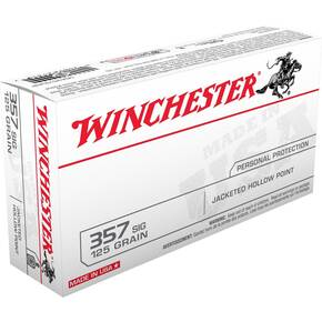 Winchester USA Handgun Ammunition .357 SIG 125 gr JHP  50/box