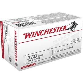 Winchester USA Handgun Ammunition .380 ACP 95 gr FMJ  100/box