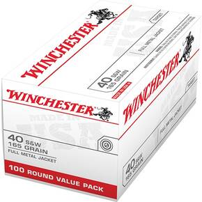 Winchester USA Handgun Ammunition .40 S&W 165 gr FMJ 100/ct