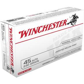 Winchester USA Handgun Ammunition .45 ACP 230 gr JHP  50/box