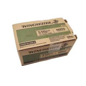 Winchester M855 Rifle Ammunition 5.56mm 62gr FMJ 3100 fps 150/ct