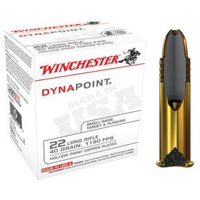 Winchester Dynapoint Rimfire Ammunition .22 LR 40 gr DP 1150 fps 500/box