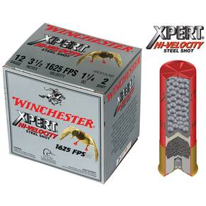 "Winchester Xpert High-Velocity Steel 12 ga 3 1/2""  1 1/4 oz #2 1625 fps - 25/box"
