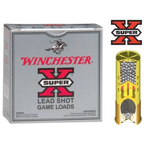 "Winchester Super-X High-Brass 20 ga 2 3/4"" 2 3/4 dr 1 oz #4 1220 fps - 25/box"