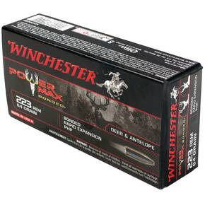 Winchester Super-X Power Max Bonded Rifle Ammunition .223 Rem 64 gr PHP 3020 fps - 20/box