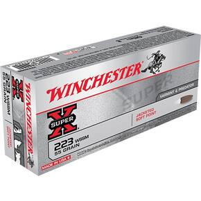 Winchester Super-X Rifle Ammunition .223 Rem 55 gr PSP 3850 fps - 20/box