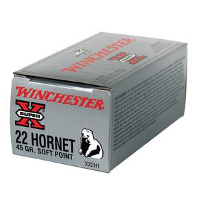 Winchester Super-X Rifle Ammunition .22 Hornet 46 gr PHP 2690 fps - 50/box